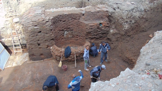 Roman baths unearthed in Bulgaria's Plovdiv