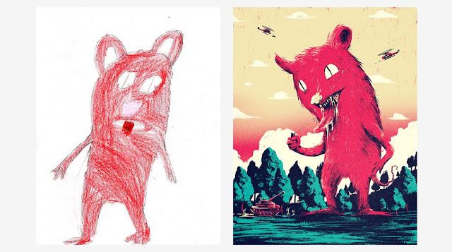 Artista convierte garabatos de niños en arte