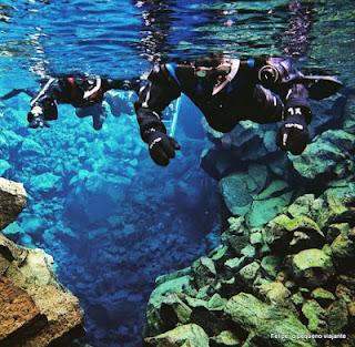 mergulho na fissura silfra islandia