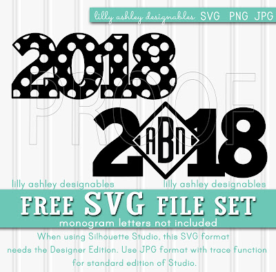Free SVG File Set for New Year's Eve