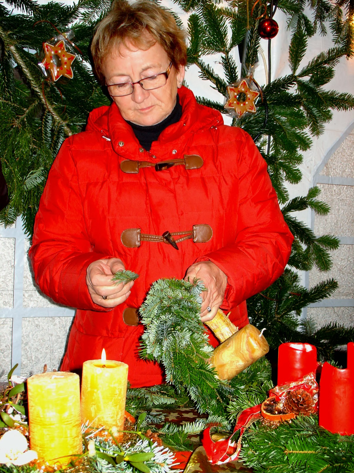 Advent wreath-making demo