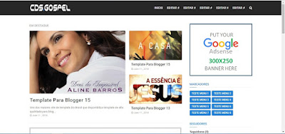 Template Para Baixar Musicas Gospel Blogger