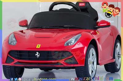 سيارات فيراري للاطفال حقيقية تتميز بتصميمها الواقعي