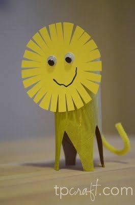 vIde membuat kerajinan berbentuk singa menggunakan  kertas roll toilet untuk anak-anak