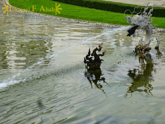 Water dragon at Wat Rong Khun, Chiang Rai, North Thailand