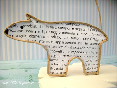 Animali polari in fil di ferro e carta - orso - My Little Inspirations