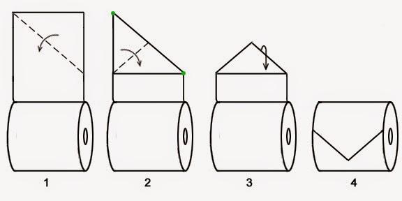 Оригами на туалетной бумаге Классический Треугольник