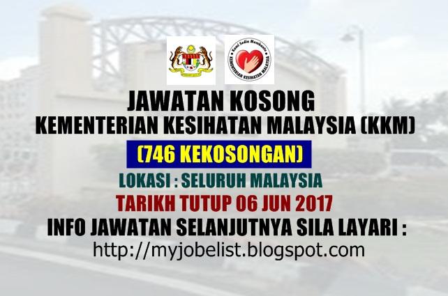 Jawatan Kosong Kerajaan Kementerian Kesihatan Malaysia (KKM) Jun 2017