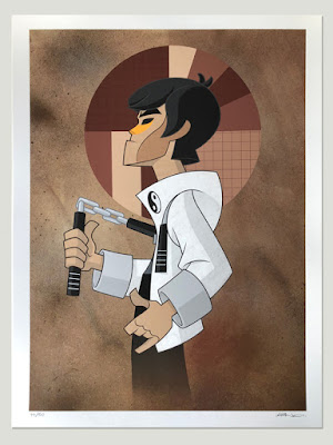 """White Dragon"" Bruce Lee Dragon King Giclee Print by kaNO"