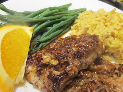 Pecan Crusted Pork with Orange-Maple Glaze