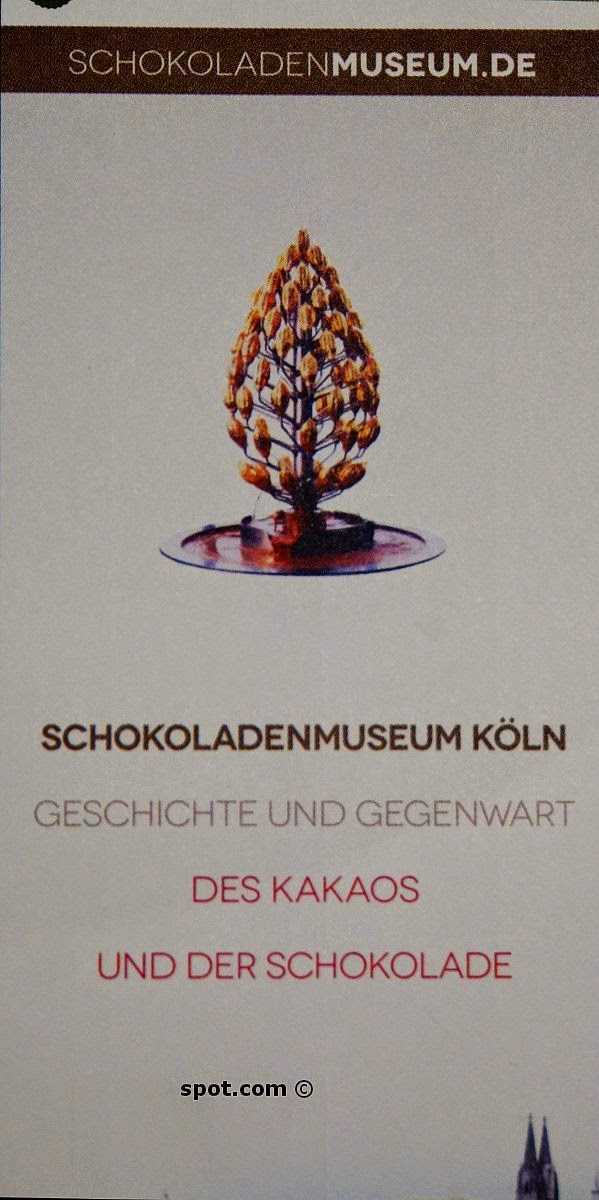 Chocolate Museum entry ticket, Cologne, Germany