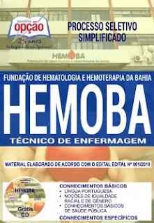 Apostila Processo Seletivo do HEMOBA - TÉCNICO DE ENFERMAGEM 2018