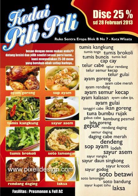 60 Contoh Desain Brosur Makanan  Ayeeycom