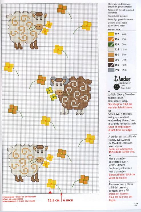 f28585e06243 Σχέδια με προβατάκια για σταυροβελονιά
