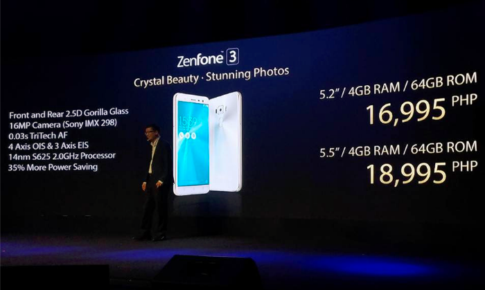 Asus ZenFone 3 Price in the Philippines