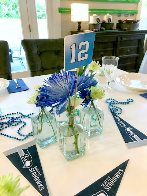 Seahawks Brownie Dessert Party Decor