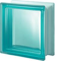 verre Turquoise lisse satiné une face
