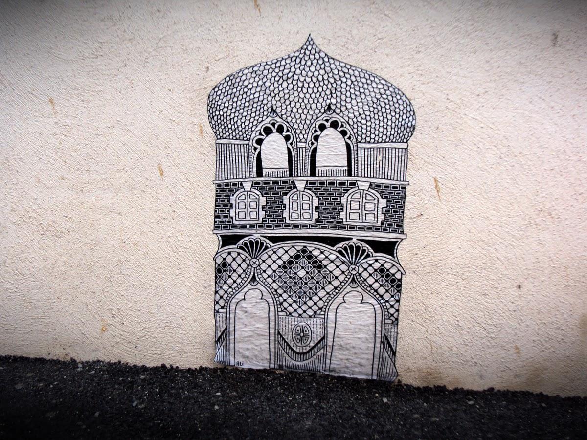 Les petits palais par Ali - Mur Îlot Chat qui Pêche - Avril 2014