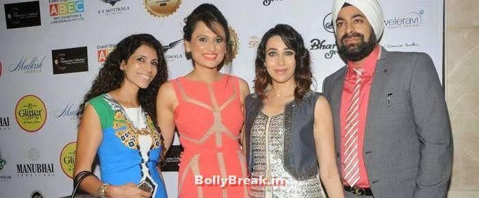 Meenu, Bulbeer Gandhi, Karisma Kapoor, Sumit Gandhi, Karisma Kapoor Inaugurates Glamour Jewelry Exhibition