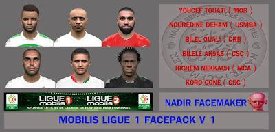 PES 2016 Mobilis Ligue 1 FacePack Vol 1 by Nadir Facemaker