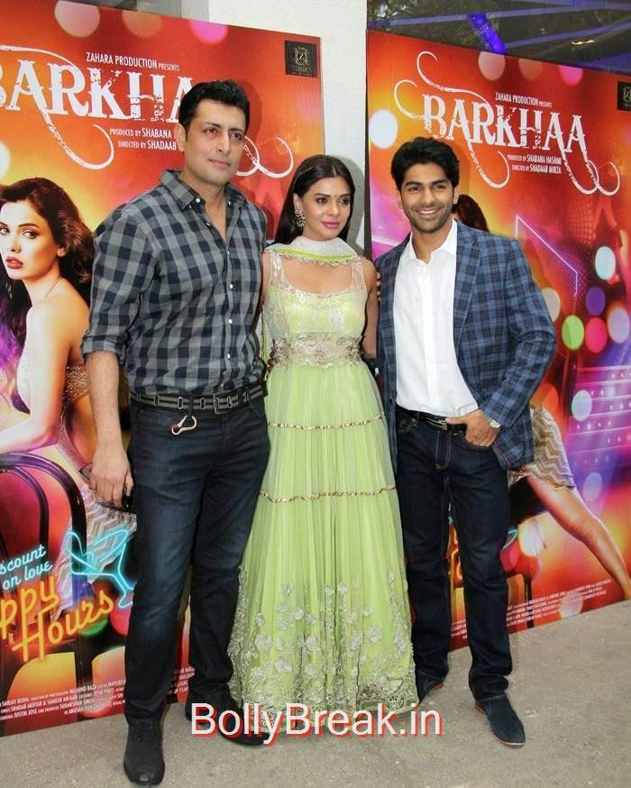 Priyanshu Chatterjee, Sara Loren, Taaha Shah, Hot Pics of Sara Loren, Shweta Pandit At 'Barkhaa' Trailer Launch