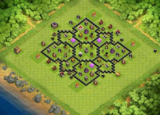 Base Clash of Clans Town Hall 8 Tipe Farming Terbaik 2017
