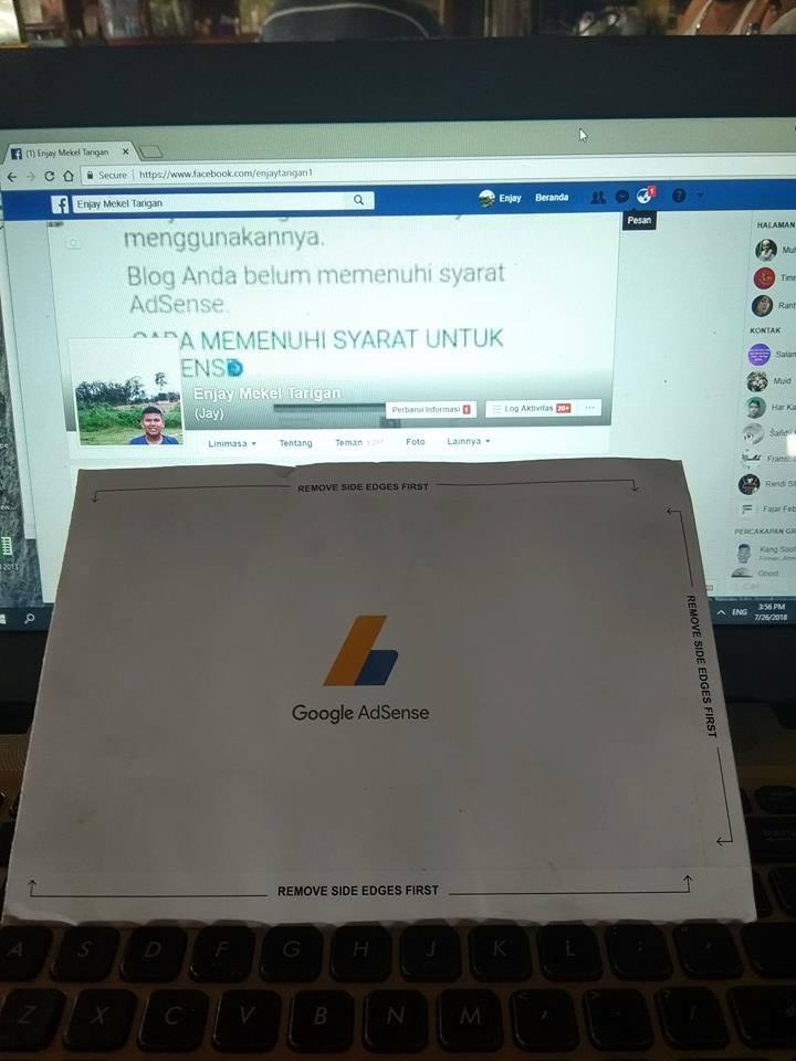 Cara verifikasi alamat dan mendapatkan pin google adsense