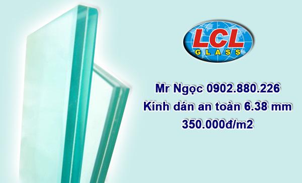 Kính dán an toàn 6.38mm LCL Glass