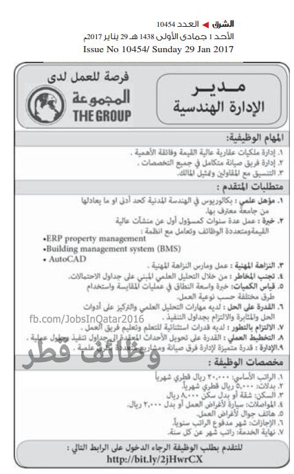 وظائف شاغرة فى مؤسسة المجموعة الدولية فى قطرعام 2021
