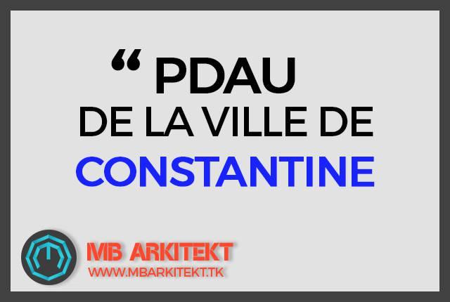 PDAU DE CONSTANTINE