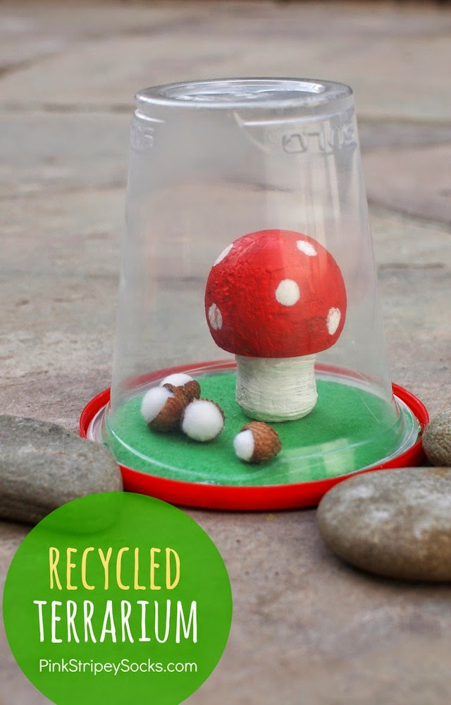 how to make a terrarium from recycled materials- great kids craft