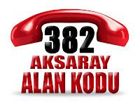 0382 Aksaray telefon alan kodu
