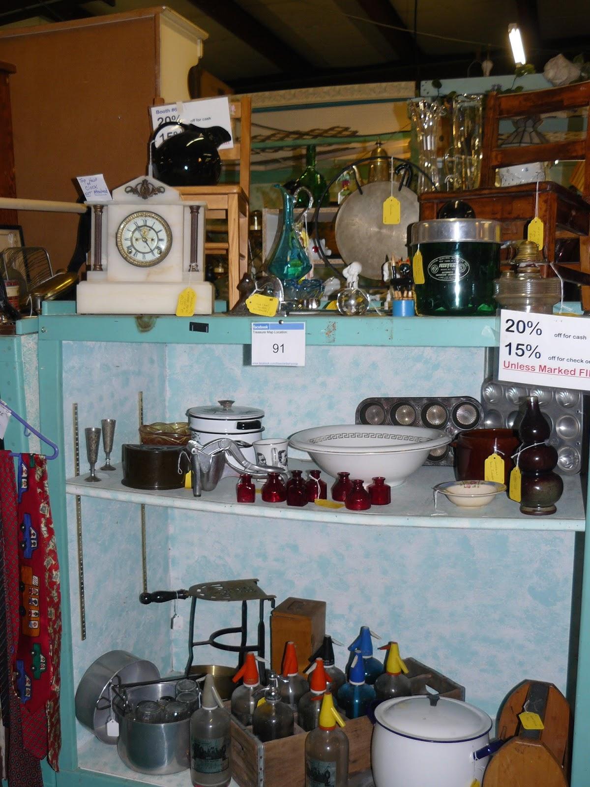 Scranberry Coop Antique Marble Mantle Clock At