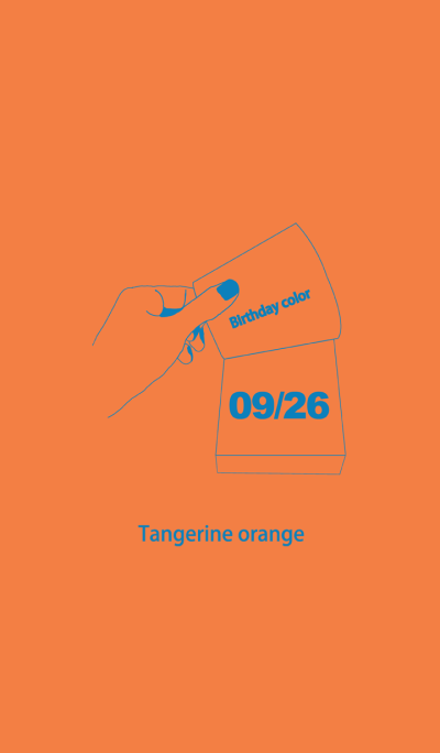 Birthday color September 26 simple: