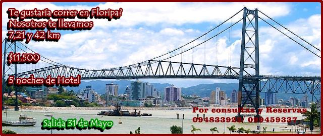 Viaje al Maratón de Florianópolis 42k 21k 7k con Info Deportes Uruguay (31/may a 03/jun/2018)