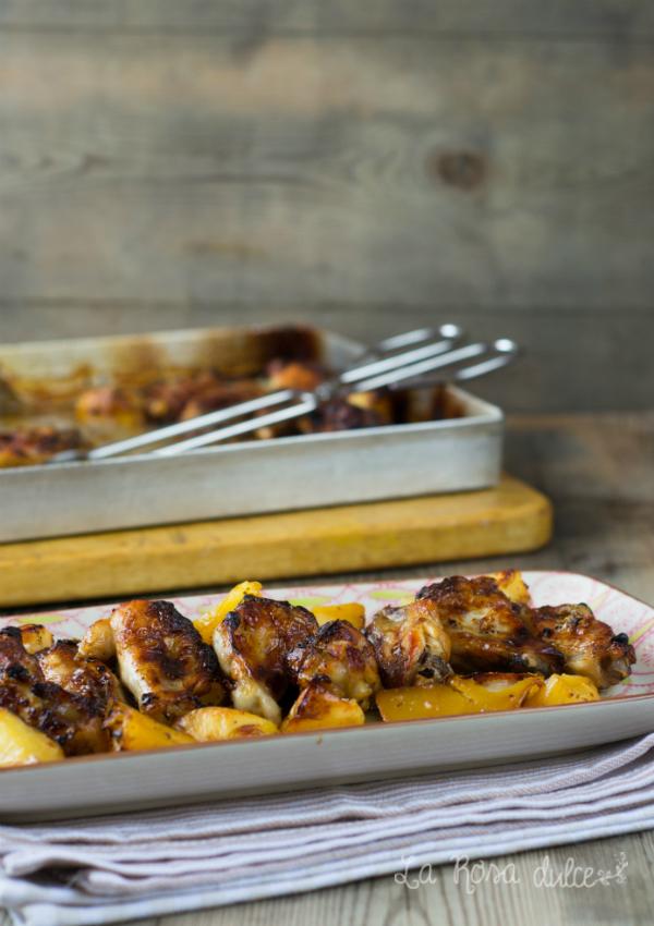 Alitas de pollo al horno con cerveza y finas hierbas