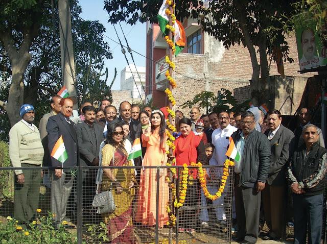 Miss Face India flag hoisting at Republic Day celebrations organized by Punjabi Federation