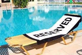 reserved sun-lounger