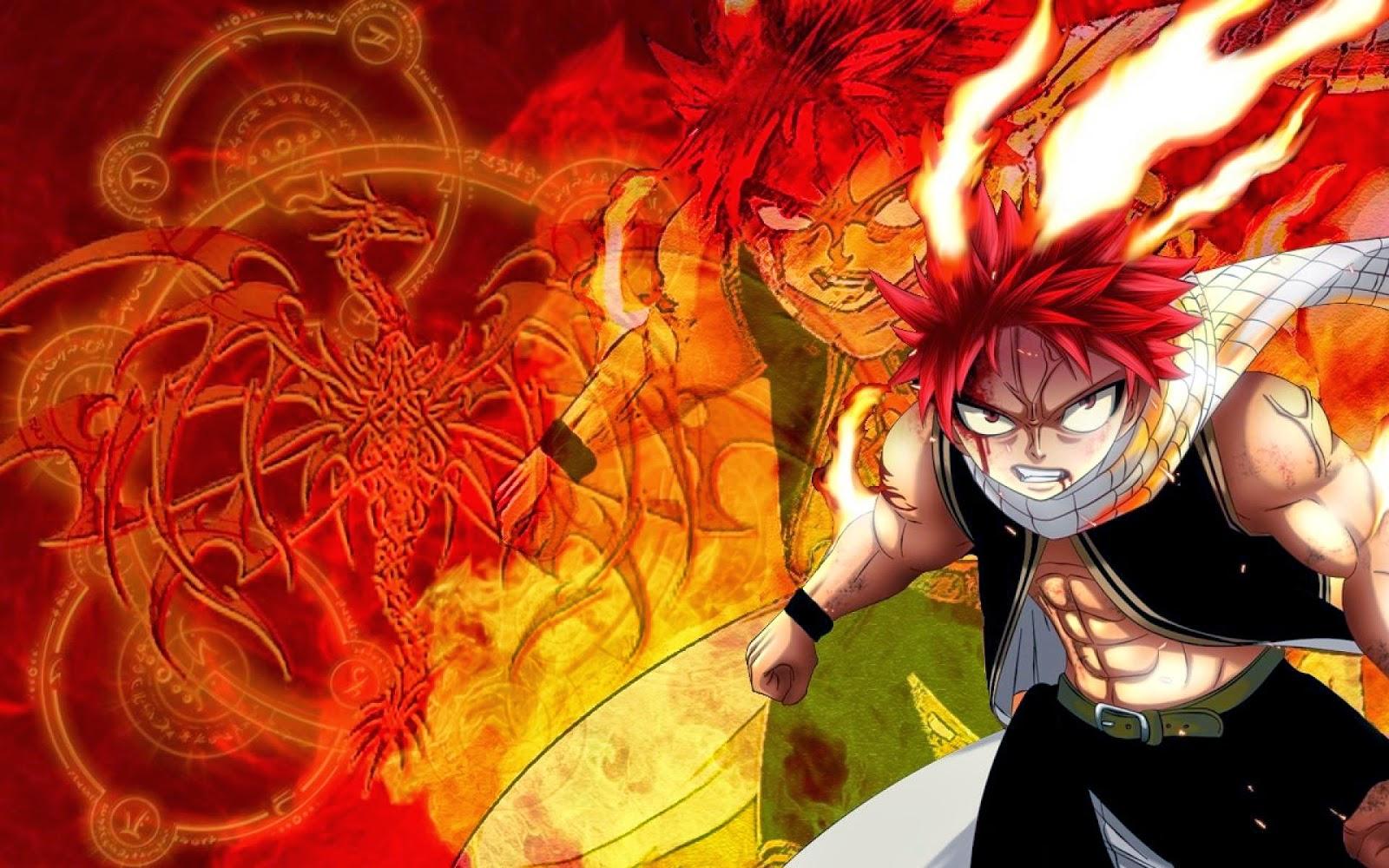 Hình ảnh Natsu đầy sức mạnh. Tuyển chọn hình nền đẹp nhất về phim hoạt hình Fairy Tail cho màn hình máy tính.