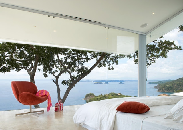 Photo of incredible ocean view from the bedroom