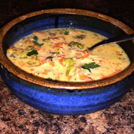 Low Point Slow Cooker Broccoli Cheddar Soup