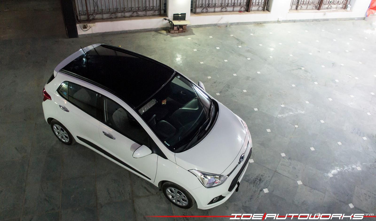 Hyundai i 10 grand roof wrap