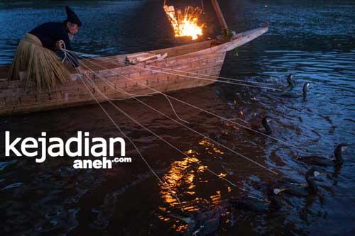 Tradisi Aneh Memancing Ikan Dengan Burung