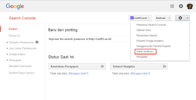 melihat detail verifikasi search console
