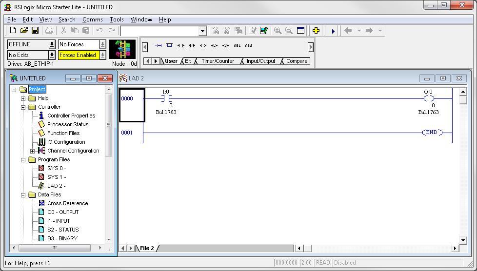 Plc programming ladder diagram