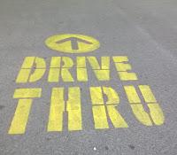 Fast food drive thru lane