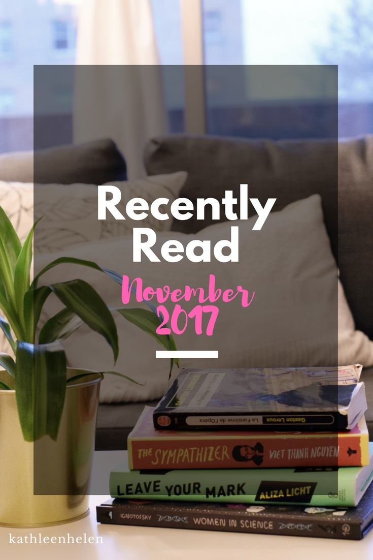 Recently Read Books - November 2017 | kathleenhelen