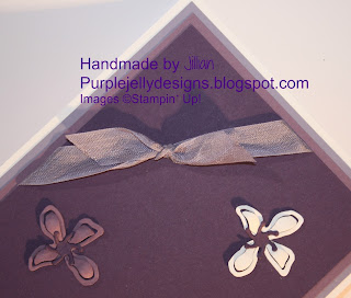 Stampin' Up! elegant eggplant perfect plum whisper white wisteria wonder ribbon botanical builder die
