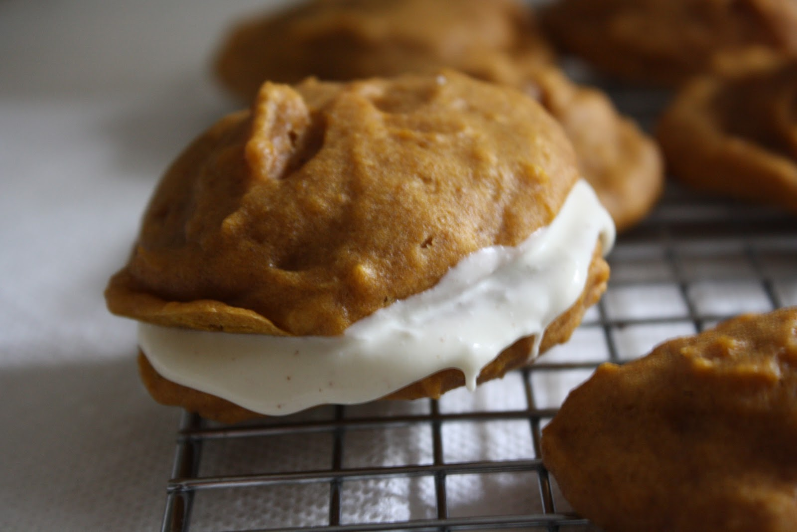 A Dusting of Sugar: Secret Recipe Club - Pumpkin Whoopie Pies +