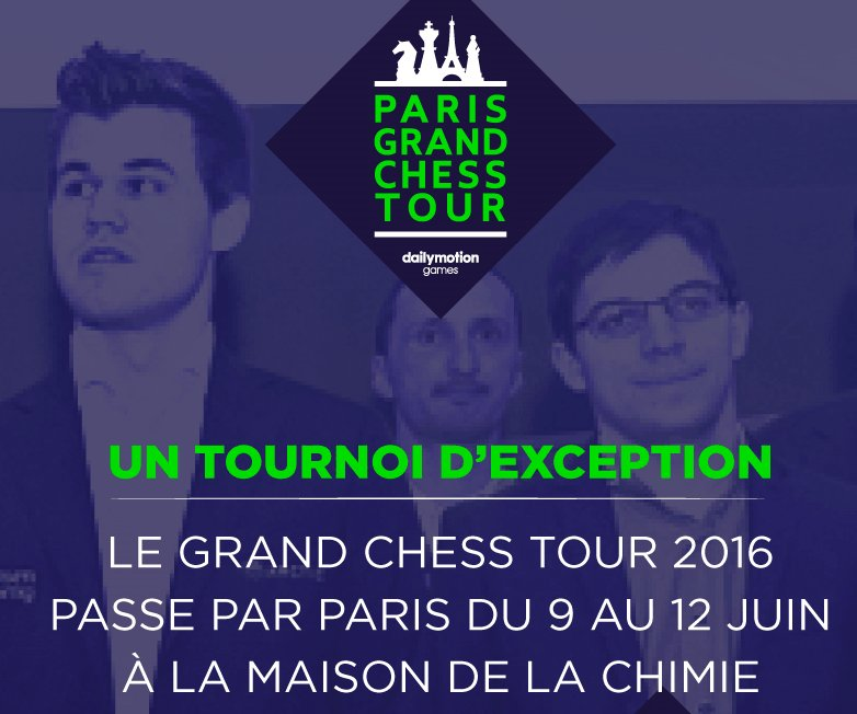 Le Grand Chess Tour à Paris du 9 au 12 juin à la Maison de la Chimie